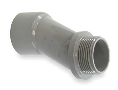 Meter Offset, 1-1/4 In., PVC, 4-1/4 In. L ()