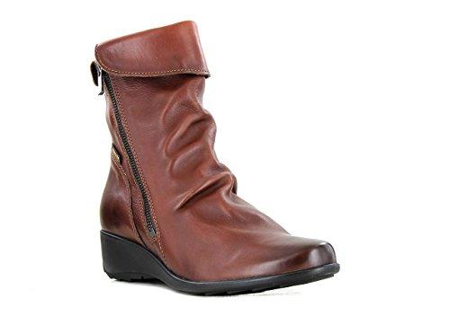 Mephisto P5108504 - Botas de cuero para mujer Marron
