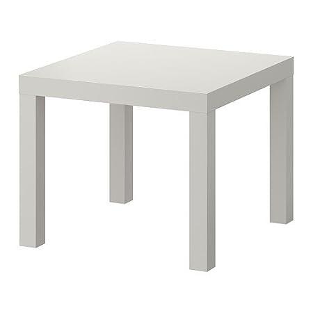 Ikea Lack Beistelltisch In Grau 55x55cm Amazon De Kuche Haushalt