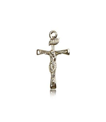 14K Gold Maltese Crucifix Medal