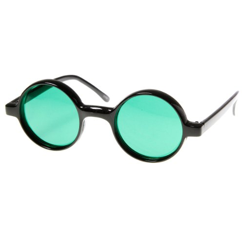 zeroUV - Small Round Circle Lennon Style Color Lens Sunglasses - Color Lenses Circle Contact