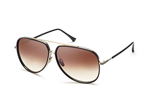 Dita CONDOR TWO 21010 E-BLK-GLD Black-12K Gold w/ Dark Brown to Clear - Dita Men Sunglasses For
