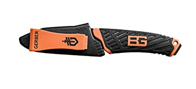 Gerber Bear Grylls Compact Fixed Blade Knife, Fine Edge, Black [31-002946]