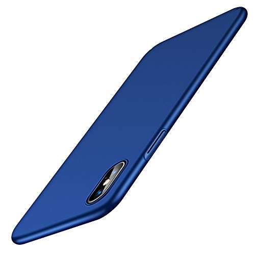 TORRAS Slim Fit iPhone Xs Max Case, Hard Plastic Ultra Thin Protective Phone Cover Case Matte Finish Grip Compatible iPhone Xs Max 6.5 inch (2018),Navy Blue