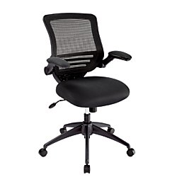 Realspace(R) Calusa Mesh Mid-Back Chair, Black by Realspace