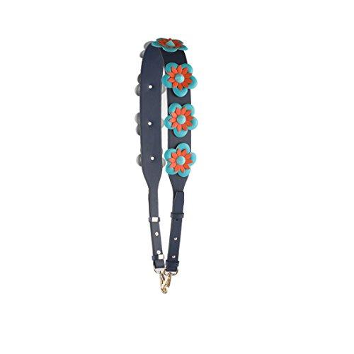 Umily 4.5 cm de ancho de cuero tejido bandolera correa ajustable 108cm-120 cm bandolera asa bolsa de correa de repuesto Azul