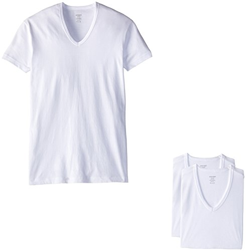 (Essential Cotton 3 Pack Slim Fit V-Neck T-Shirt)
