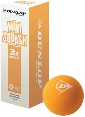 CreativeMinds UK NEW Dunlop Play Mini Squash Juniors Playing Orange Balls Pack Of 3