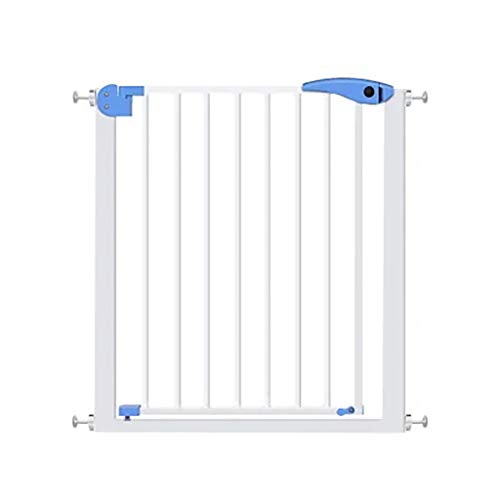 Extra Wide Safety Gate with Pet Door, Easy Walk Indoor Thru Metal Gate, Expandable Baby Pet for Cat/Dog, Pressure Mount (Size : 75-82cm)
