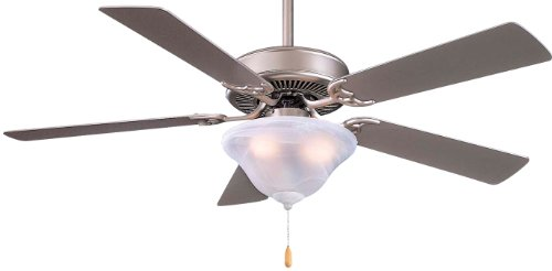 Minka-Aire F548-BS, Contractor Uni-Pack, 52'' Ceiling Fan, Brushed Steel by Minka-Aire