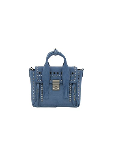 Mujer Hombro Lim AS170226SSSFRENCHBLUE Phillip De 3 1 Bolso Azul Gamuza FxqOCS