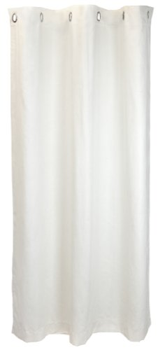 (Tadpoles Micro-Suede Grommet Top Curtain Panel Ivory)