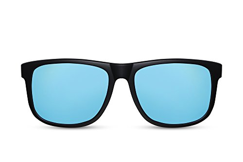 Mujer de Negro Hombre Sol Nerd Cheapass Wayfarer 009 Ca Gafas Reflejado gXx5nq51