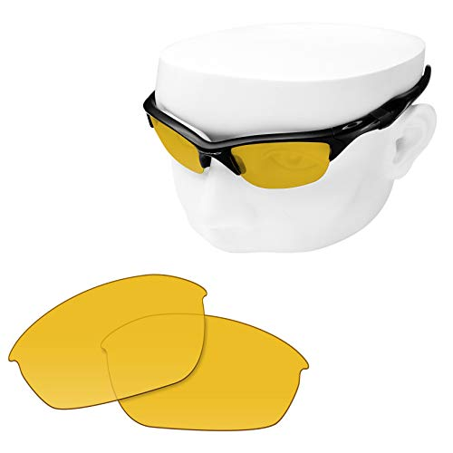 OOWLIT Replacement Lenses Compatible with Oakley Half Jacket 2.0 Sunglass HD Yellow Non-polarized