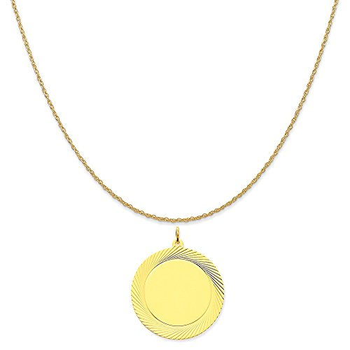 Yellow Gold Etched Design - 4