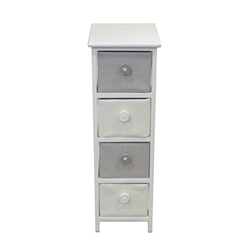 Essential Dcor Entrada Collection EN112156 Essential Decor Four Drawer Wooden Cabinet