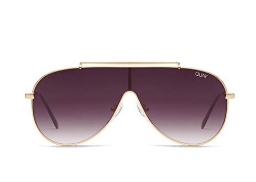 Quay Women's El Dinero Sunglasses, Gold/Purple, One ()