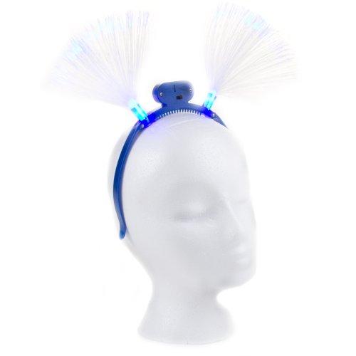 Flashing Panda Fiber-Optic LED Flashing Headband, Assorted Colors, Lot of 12 Headbands]()