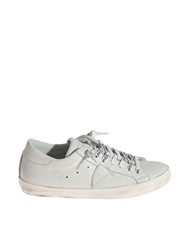 Philippe Model Homme CLLUV007 Blanc Cuir Baskets