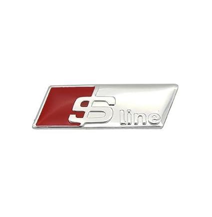 YND – Emblema autoadhesivo en 3D de aleación de aluminio para volante de dirección de S-line