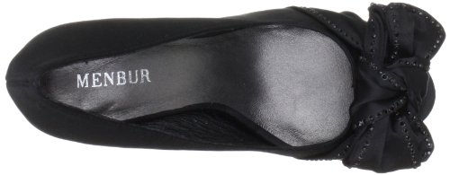 de Zapatos mujer MENBUR 5073 clásicos para Gurk Negro satén qwcIvIW41F