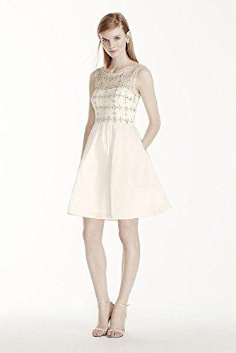 Wedding-Dress-Beaded-Illusion-Bodice-with-Short-Taffeta-Skirt-Style-061908700