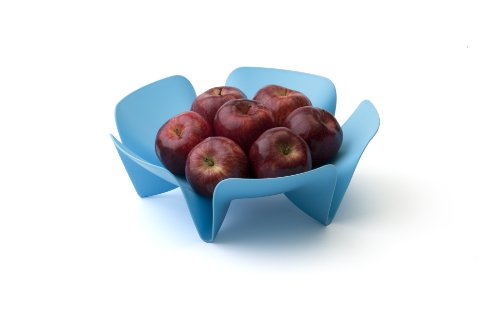 Qualy Flower Fruit Tray Blue by Qualy (Image #3)