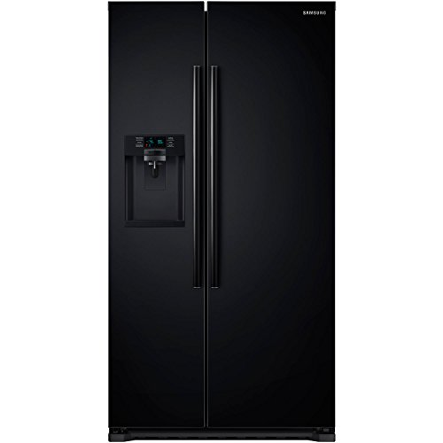 Samsung RS22HDHPNBC Energy Star 22.3 Cu. Ft. Counter-Depth Side-by-Side Refrigerator/Freezer with External Water/Ice Dispenser and In-Door Ice Maker, Black by Samsung