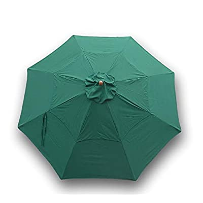 Formosa Covers Replacement Patio Umbrella Canopy 11ft 8 Ribs, Double Vented, Green (Canopy only) : Patio Umbrellas : Garden & Outdoor