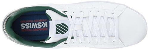 K-suisse Hommes Tribunal Propre Sneaker Blanc / Vert Foncé