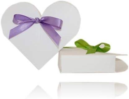 Einssein 12x Caja de Regalo Boda Corazón púrpura Cajas Bonitas para cajitas Regalos Bombones Carton bolsitas Papel chuches Bodas Bautizo pequeñas pequeña recordatorios comunion Navidad Decorar: Amazon.es: Hogar