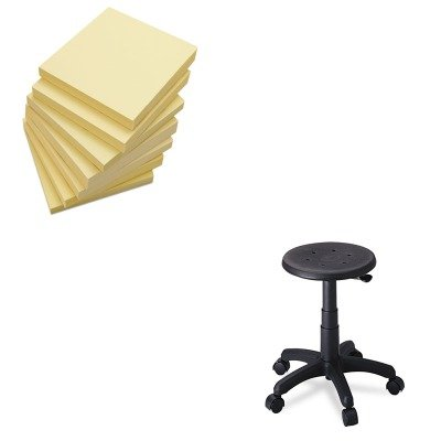 KITSAF5100UNV35668 - Value Kit - Safco Office Stool with Casters (SAF5100) and Universal Standard Self-Stick Notes (UNV35668)