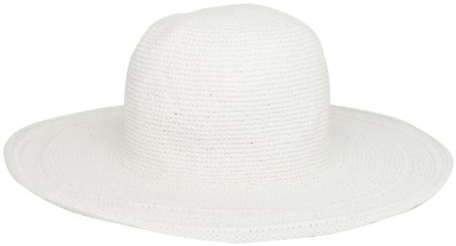San Diego Hat Women's Cotton Crochet 4 Inch Brim Floppy Hat White, One Size]()
