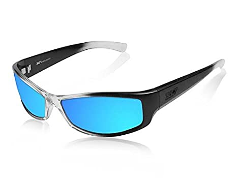 2e173a20df9a Image Unavailable. Image not available for. Color  ICICLES Slider Blue  Mirror Lens Sunglasses with Black ...