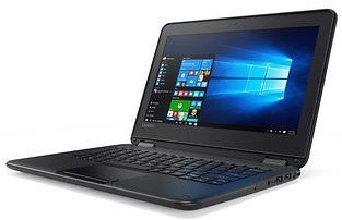 Newest Black Flip design Lenovo 11.6-inch Touchscreen 2-in-1 Business Laptop, Intel Celeron N3060, 4GB Memory, 32GB eMMC, Webcam, Wifi, Bluetooth, Windows 10 Professional (PC) by Lenovo (Image #5)