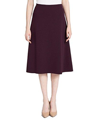 Calvin Klein Crepe A-Line Skirt (Aubergine, 6)