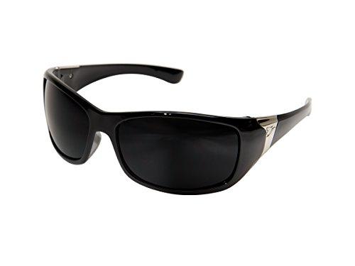 Edge Eyewear TYC216 Civetta Safety Glasses, Black with Polarized Smoke Lens for ()