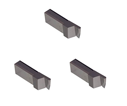 3 Pack LGT030HSRFR.030 Width.090 Depth, Uncoated high Speed Steel, Full Radius, THINBIT Grooving Insert for Plastics, Composites, Abusive Cutting Conditions and Low RPM Cutting by GROOVE 'N TURN