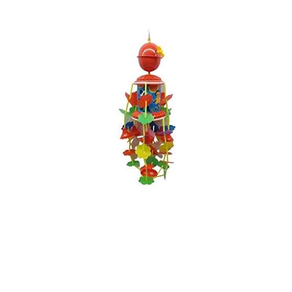 Barodian's Blossom Musical Merry Go Round Toy (Jhoomer) with Soothing Sound for Kids, Red