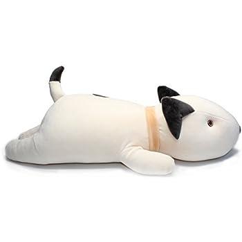 Amazon.com: Vintoys Bull Terrier Dog Big Hugging Pillow Soft Plush ...
