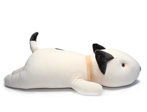 Vintoys Bull Terrier Dog Big Hugging Pillow Soft Plush Toy Stuffed Animals White 21""