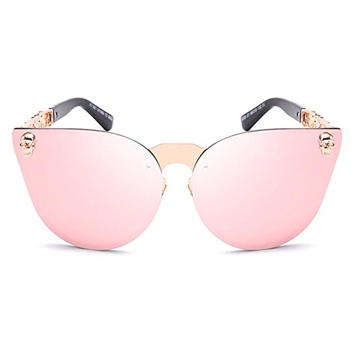 Hombre Mujer C6 Frame Skull UV400 Temple Gafas Gothic Highdas Metal sol Sunglasses de watE6Rq