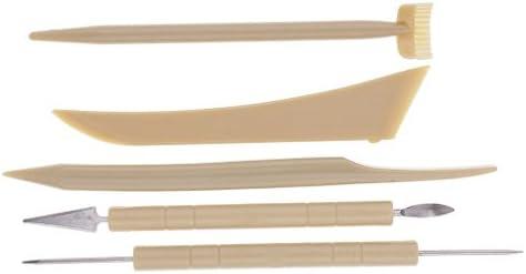 粘土道具 粘土彫刻ツール 5個セット 軽量 使いやすい ステンレス DIY プラスチック