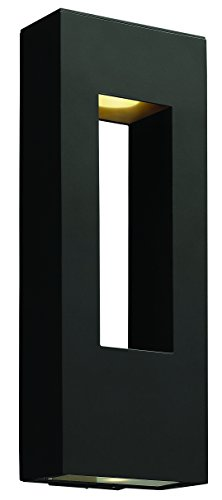 Hinkley 1649SK-LED Contemporary Modern Two Light Wall Mount from Atlantis collection in Blackfinish,