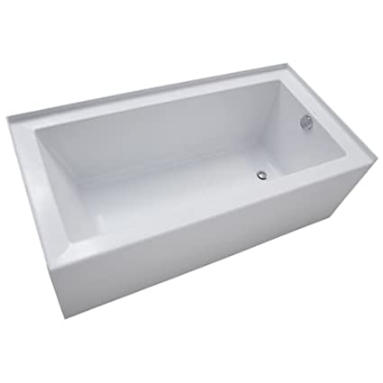 Exceptionnel Mirabelle MIRSKS6030R Sitka 60u0026quot; X 30u0026quot; Acrylic Soaking Bathtub For  Three ...