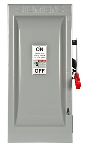 Siemens HF363 100-Amp 3 Pole 600-volt 3 Wire Fused Heavy Duty Safety Switches ()