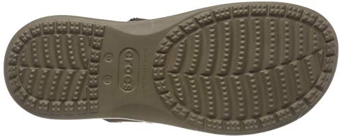 Para khaki 22y Crocs Men Marrón Hombre Santa Chanclas Canvas Flip Cruz espresso vf7wZ6fBqY