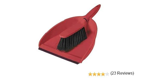 Greener Cleaner - Cepillo y recogedor (plastico reciclado y celulosa de madera), color rojo: Amazon.es: Salud y cuidado personal