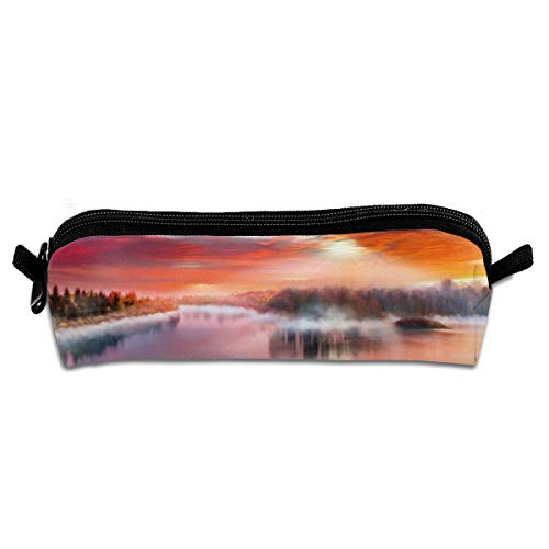 Kui Ju Pencil Bag Pen Case Fantasy River Cosmetic Pouch Students Stationery Bag Zipper Organizer]()