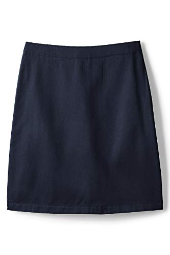 Lands' End School Uniform Little Girls Blend Chino Skort Top of Knee Classic Navy